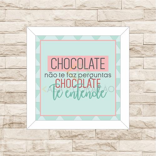 6048 - Quadro com moldura Chocolate