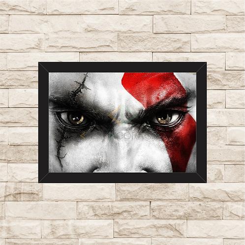 1023 - Quadro com moldura God of War - Kratos