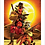 Thumbnail: 1187 - Quadro com moldura Rocket e Deadpool