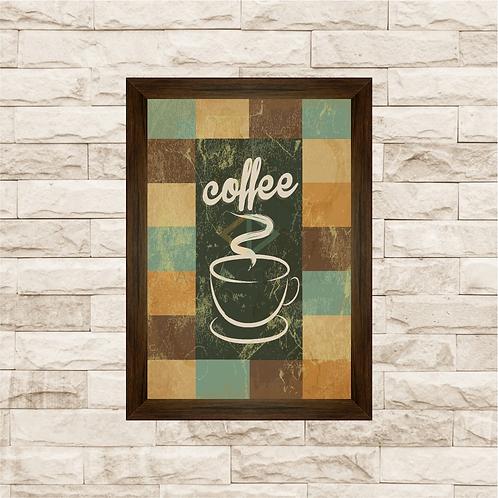 6002 - Quadro com moldura Coffee - Café