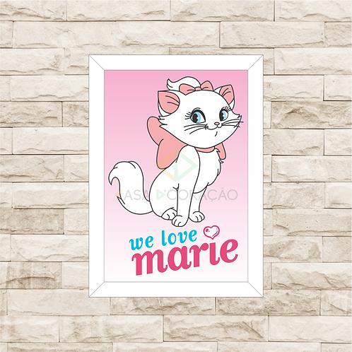 4067 - Quadro com moldura Love Marie