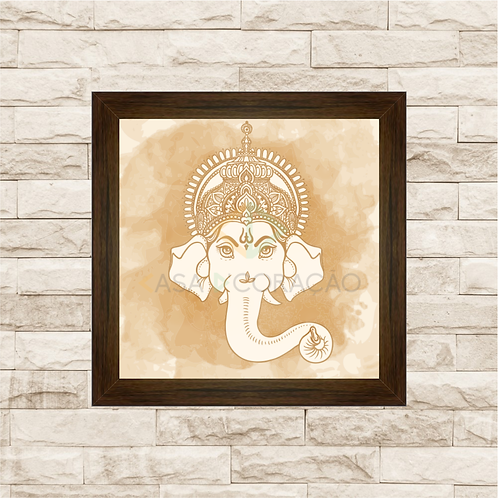6299 - Quadro com moldura Ganesha