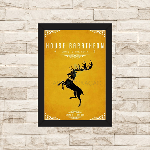1146 - Quadro com moldura Game of Thrones - House Baratheon
