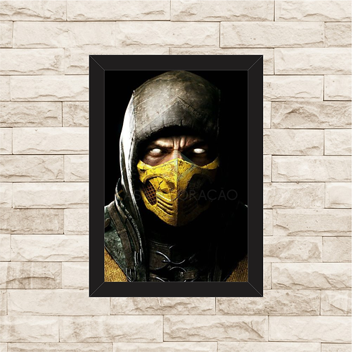 1830 - Quadro com moldura Mortal Kombat