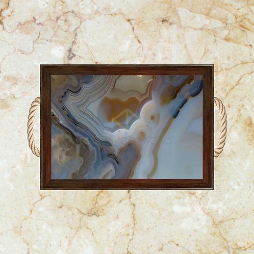 10005 - Bandeja Decorativa - Pedra