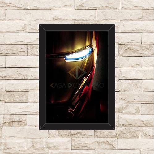 1044 - Quadro com moldura Homem de Ferro