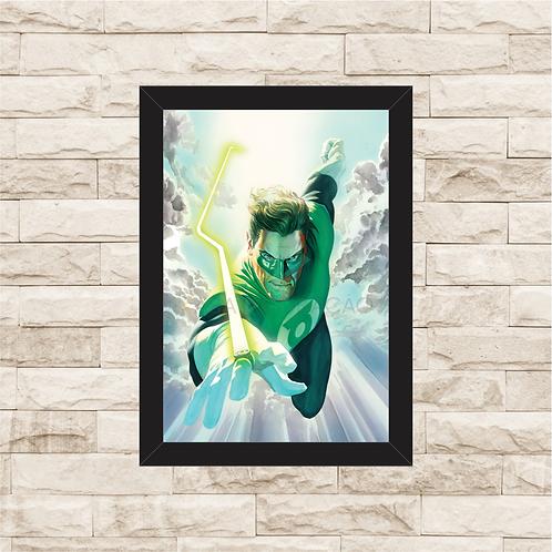 1088 - Quadro com moldura Lanterna Verde