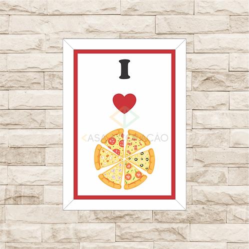 6127 - Quadro com moldura Love Pizza