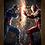 Thumbnail: 1350 - Quadro com moldura Capitão América vs Homem de Ferro