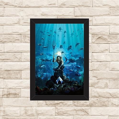 1304 - Quadro com moldura Aquaman