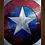 Thumbnail: 1349 - Quadro com moldura Escudo do Capitão América