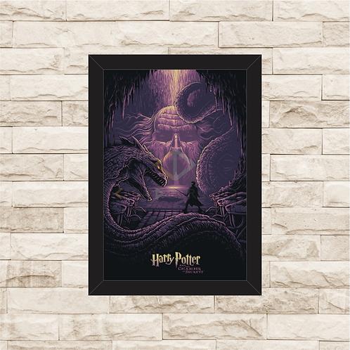 1238 - Quadro com moldura Harry Potter e a Câmara Secreta