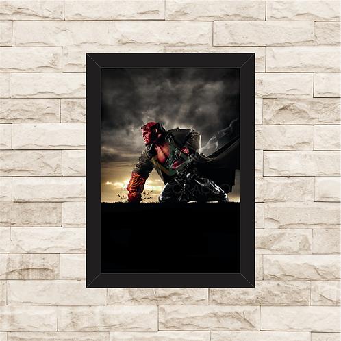 1554 - Quadro com moldura Hellboy