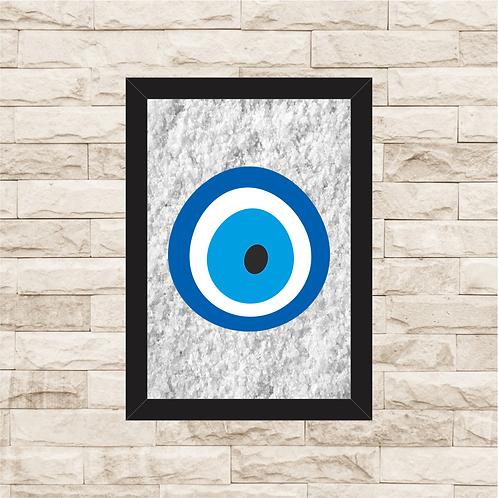 6151 - Quadro com sal grosso - Olho Grego