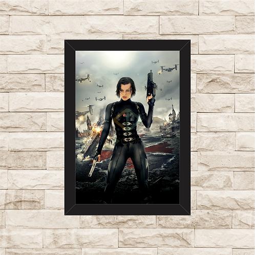 1614 - Quadro com moldura Resident Evil 5 - Retribuição