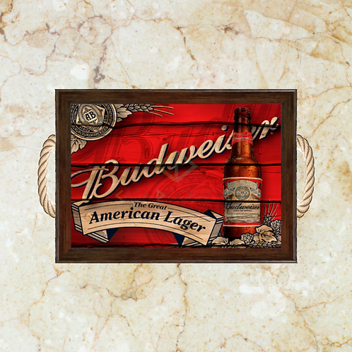 10063 - Bandeja Decorativa - Budweiser