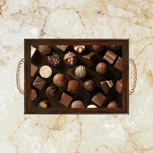 10030 - Bandeja Decorativa - Chocolates