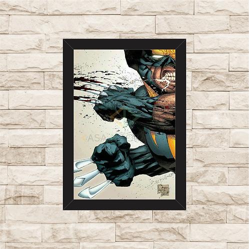 1188 - Quadro com moldura X-men - Wolverine