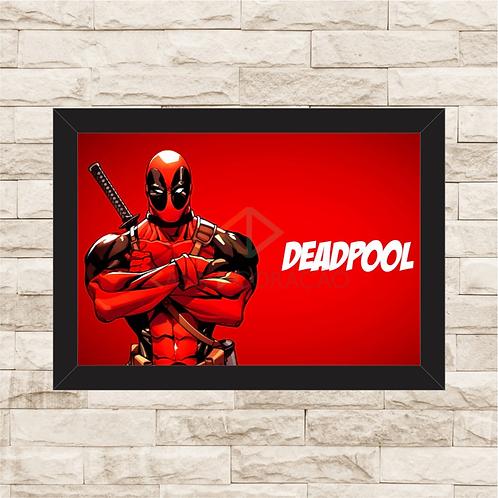 1197 - Quadro com moldura Deadpool