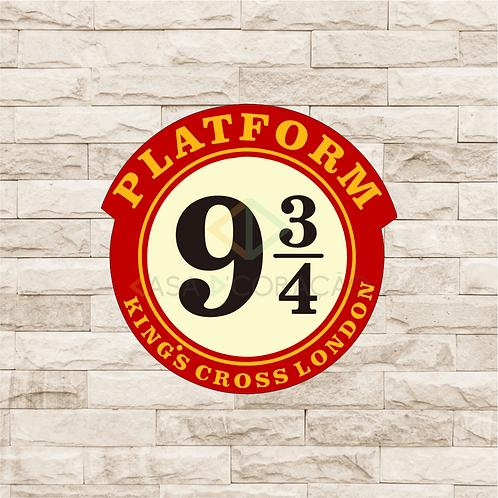 30017 - Placa Decorativa - Plataform 9 3/4 - Harry Potter