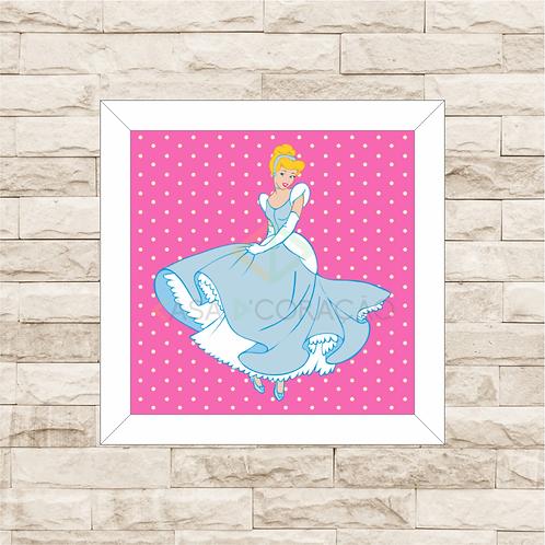 4100 - Quadro com moldura Princesas - Cinderela