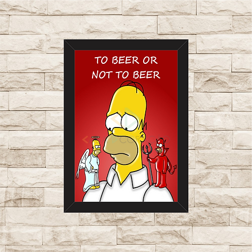 5003 - Quadro Para Guardar Tampinhas - To Beer or Not To Beer