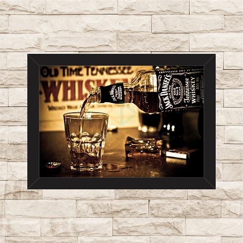 7009 - Quadro com moldura Jack Daniel's