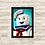 Thumbnail: 1705 - Quadro com moldura Os Caça-Fantasmas - Ghostbusters - Stay Puft