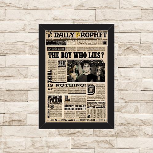 1245 - Quadro com moldura Harry Potter