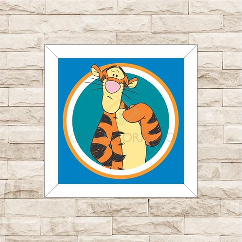 4092 - Quadro com moldura Ursinho Pooh - Tigrão