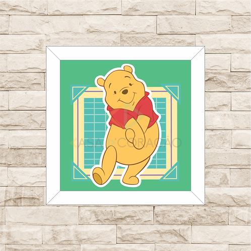 4087 - Quadro com moldura Ursinho Pooh