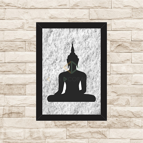 6154 - Quadro com sal grosso - Buda