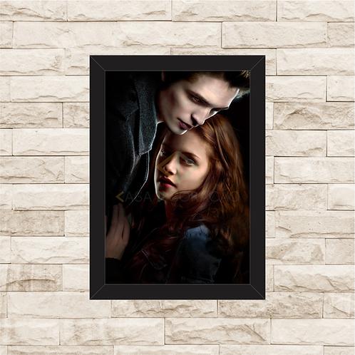 1440 - Quadro com moldura Crepúsculo - Edward e Bella