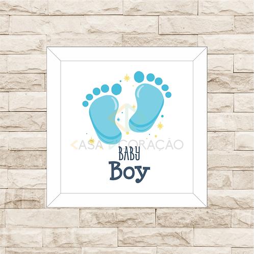 4023 B - Quadro com moldura Baby Boy