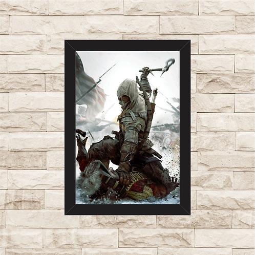 1742 - Quadro com moldura Assassin's Creed