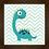 Thumbnail: 4139 - Quadro com moldura Dinossauro