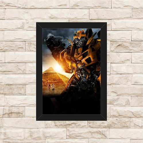 1642 - Quadro com moldura Transformers - Bumblebee