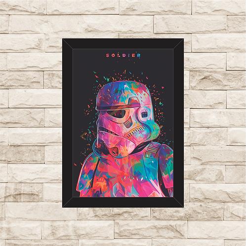 1051 - Quadro com moldura Star Wars - Soldier