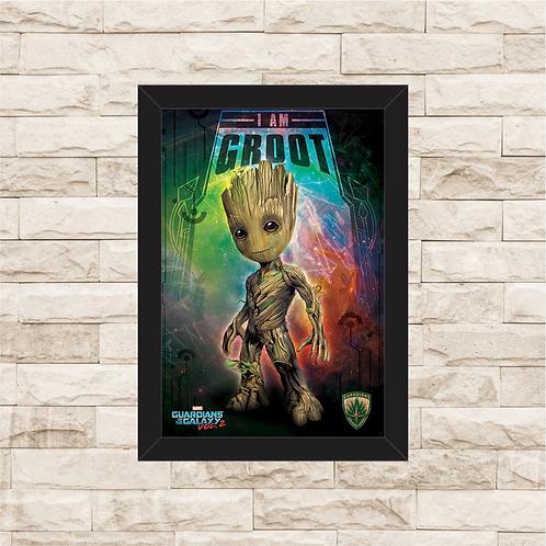 1082 - Quadro com moldura Guardiões da Galáxia - Groot