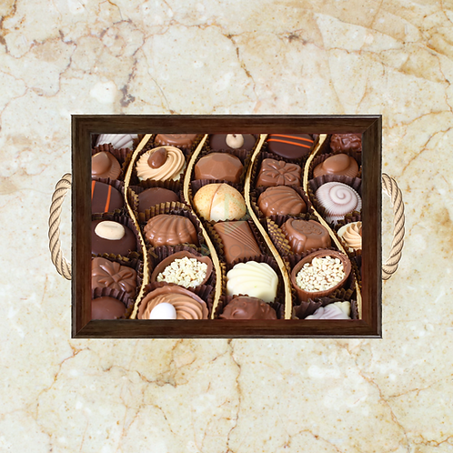 10031 - Bandeja Decorativa - Chocolates