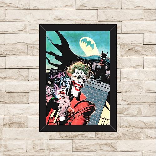 1139 - Quadro com moldura Batman e Coringa