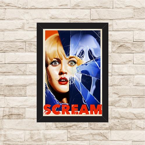 1714 - Quadro com moldura Pânico - Scream