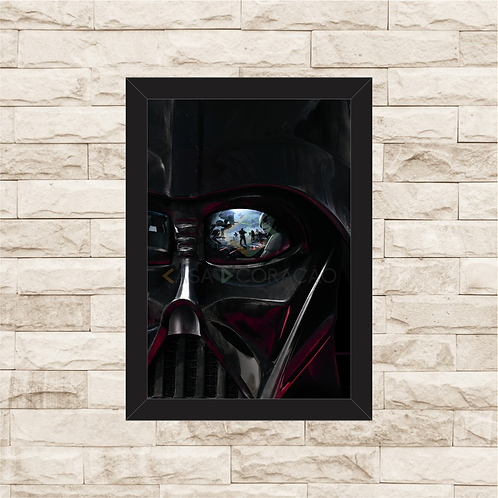 1339 - Quadro com moldura Star Wars - Darth Vader