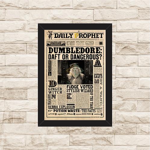 1035 - Quadro com moldura Harry Potter - Dumbledore