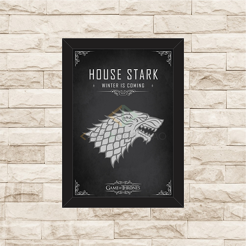 1143 - Quadro com moldura Game of Thrones - House Stark