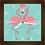 Thumbnail: 9012 - Relógio com moldura Flamingos