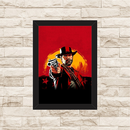 1731 - Quadro com moldura Red Dead Redemption 2
