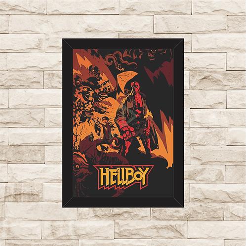 1811 - Quadro com moldura Hellboy