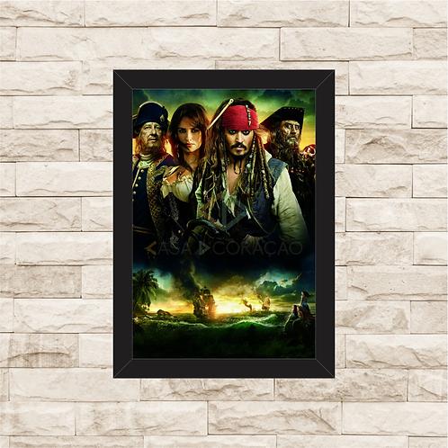 1337 - Quadro com moldura Piratas do Caribe
