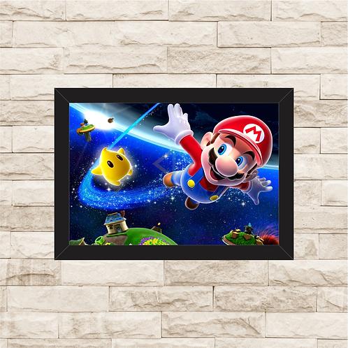1012 - Quadro com moldura Super Mario